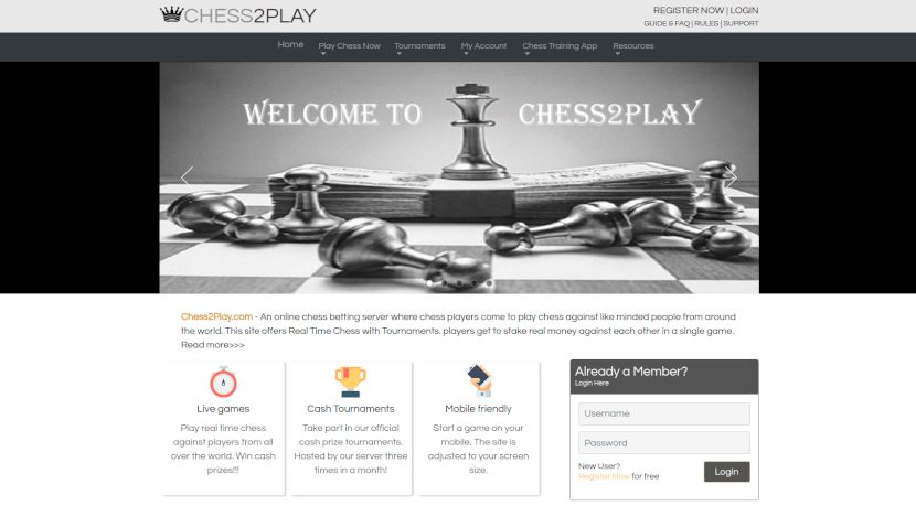 chess2play.com home page