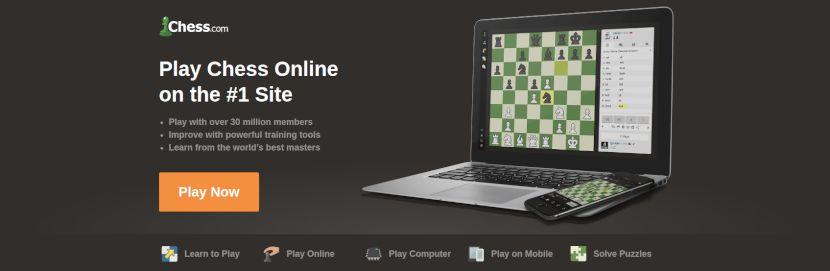 chess.com home page